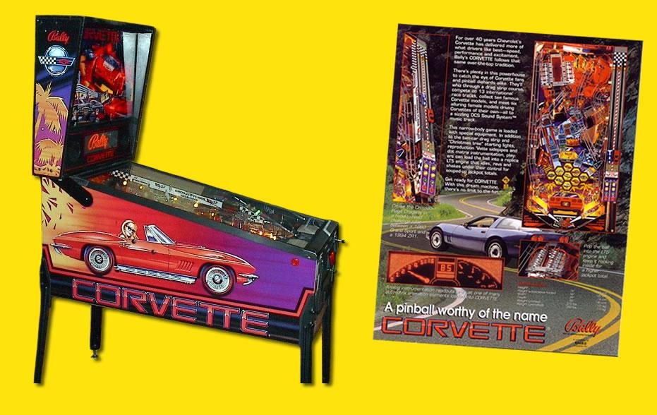 Corvette Pinball Jetsvettes Pinball Machine Jetsvettes